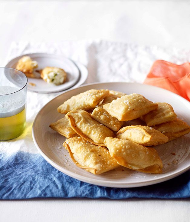Australian Gourmet Traveller recipe for cheese and mint kalitsounia.