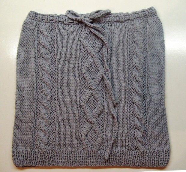 Kötött szürke szoknya Knitted grey skirt