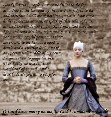 Anne Boleyn's execution speech. IMAGE: Natalie Dormer as Queen Anne Boleyn, Showtime's 'The Tudors'.