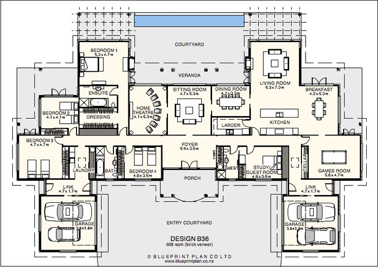 Large Country Style House Or Lodge House Plans