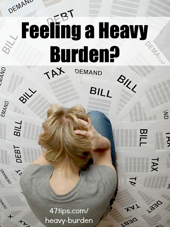Finding Relief from Heavy Burdens   47 Positive Thinking Tips