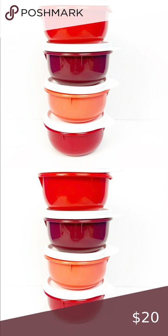Tupperware Small Hit Parade 4x300 ML Purple//pinkset dosenset Container B27 Bowl
