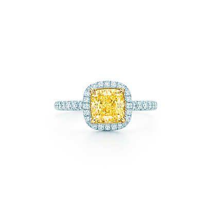 ティファニー ソレスト リング イエロー ダイヤモンド プラチナ 18Kゴールド   Tiffany & Co.