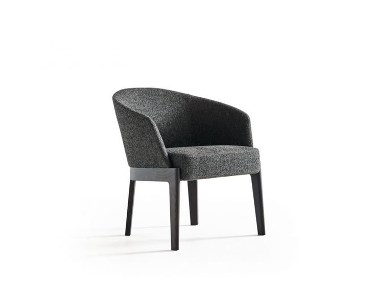 The Chelsea collection of chairs and armchairs, designed by Rodolfo Dordoni, has been enriched with a small armchair with an enveloping backrest. A small design but with delicate proportions, this completes a collection which, ever since it was launched in 2014, has been highly acclaimed by the Milanese designer's admirers.