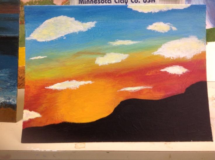 High school painting class.