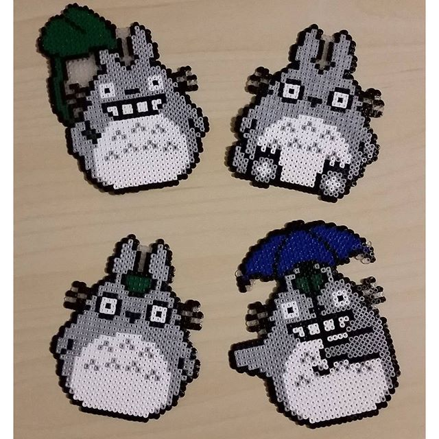 Totoro hama beads by lapine95                                                                                                                                                     More