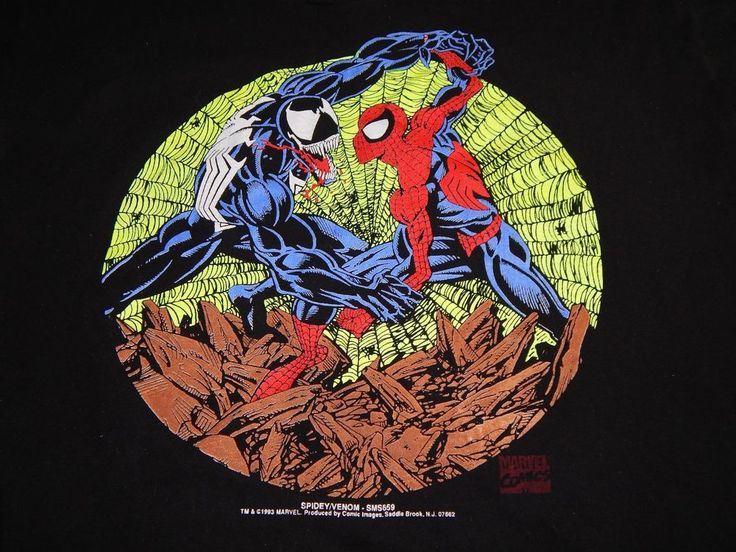 Spiderman vs Venom Vintage T-shirt Size XL 1993 Marvel Comics Spidey Fruit Loom #FruitoftheLoom #GraphicTee