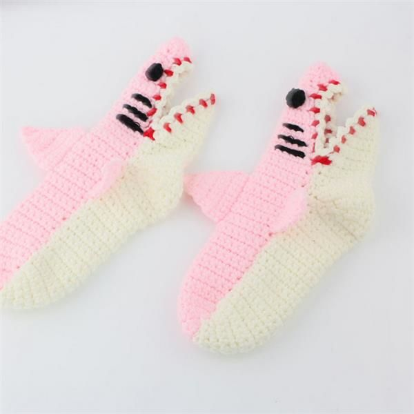 Women Knitted Cartoon Alligator Adult Thicken Woolen Warm Socks