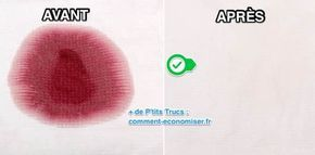 Et bim ! Vous avez renversé du vin rouge sur votre belle chemise blanche... Ce type de tache est particulièrement tenace. Voici un truc de grand-mère facile et rapide pour éliminer une tache de vin rouge incrustée.  Découvrez l'astuce ici : http://www.comment-economiser.fr/meilleure-astuce-pour-enlever-tache-vin-rouge-incrustee.html?utm_content=buffer47ee6&utm_medium=social&utm_source=pinterest.com&utm_campaign=buffer