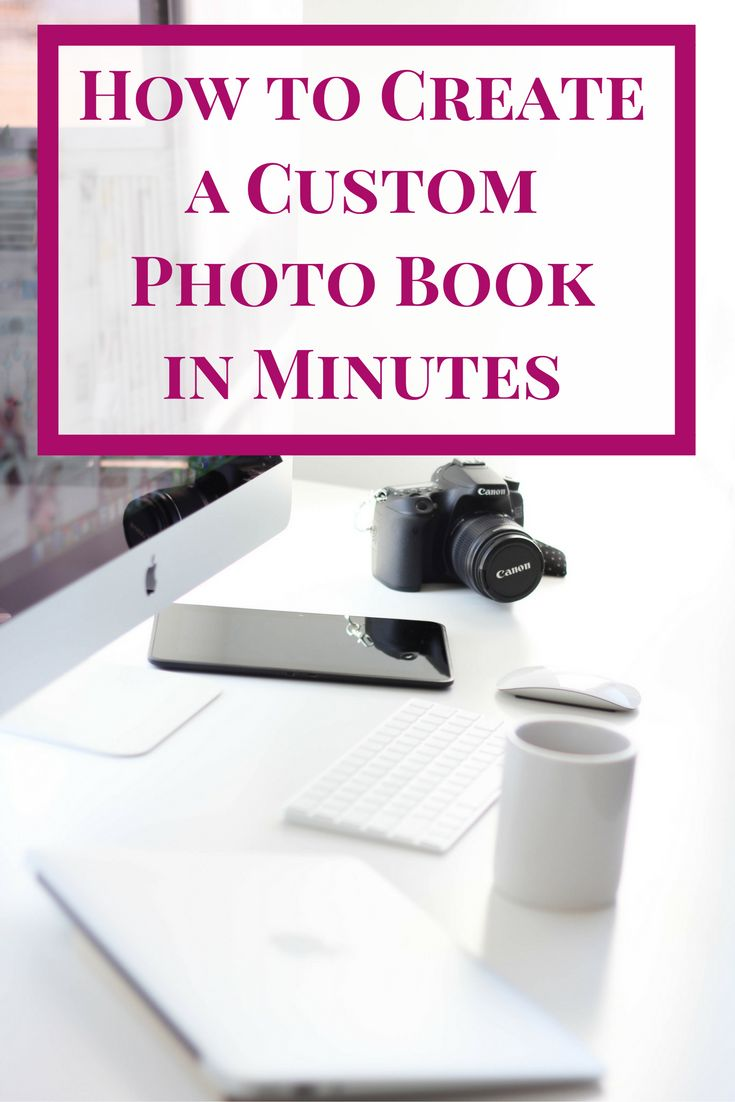 Don't let all those pictures on your phone go to waste! Create a custom photo book in minutes!