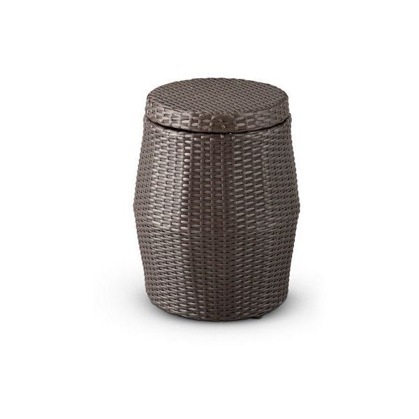 Resin Wicker Outdoor Storage Table ❤ Liked On Polyvore Featuring Home,  Outdoors, Patio Furniture