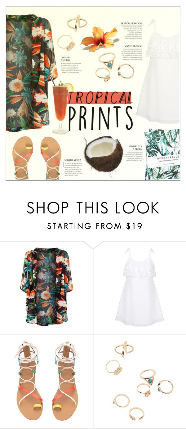 """hot tropics"" by fernweeh on Polyvore featuring moda, New Look i Nikki Strange"