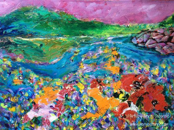 Canada Landscape Painting Moose Lake Impressionist by ArtbyAeris