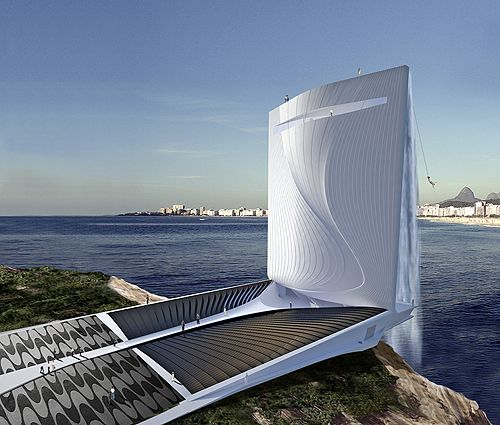 Solar Energy Generating Waterfall Tower for Rio 2016 Olympic Games : This solar energy generating tower is going to be located on the coast of Rio de Janeiro. It is one of the first buildings that are being designed for the 2016 Rio Olympics. This solar energy generating tower looks like an enormous waterfall. The Solar City Tower is designed by Swiss (Zurich-based) company – RAFAA Architecture & Design. It features a large solar system to generate energy during the day and a pumped water…