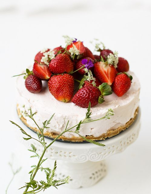 Cheesecake! how about buying a cheesecake last minute and adding the beautiful berries, mint leaves and flowers....