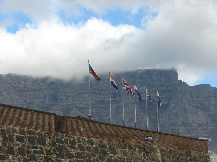 view of table mountain with its table cloth