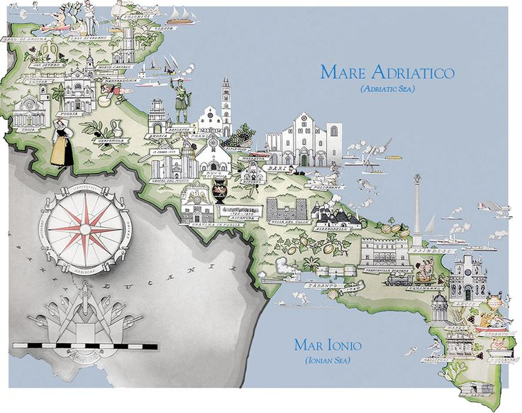 9 best map apulia images on Pinterest Maps Puglia italy and