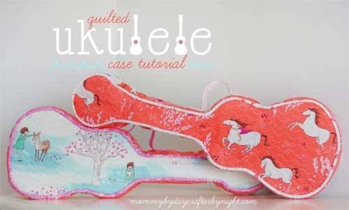 How cute are these quilted ukulele cases? Don't worry though if you don't have a ukulele, this tutorial shows you how to draft a pattern for a guitar or ot