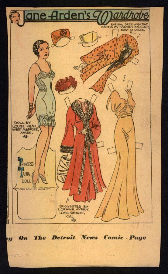 1937 Uncut Jane Arden Newspaper Paper Doll 2442   eBay