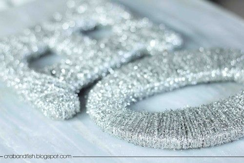 Ornament-Deco-Noel-Christmas-Glitter-Laine