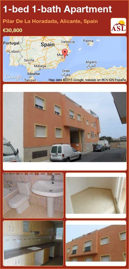 1-bed 1-bath Apartment in Pilar De La Horadada, Alicante, Spain ►€30,800 #PropertyForSaleInSpain