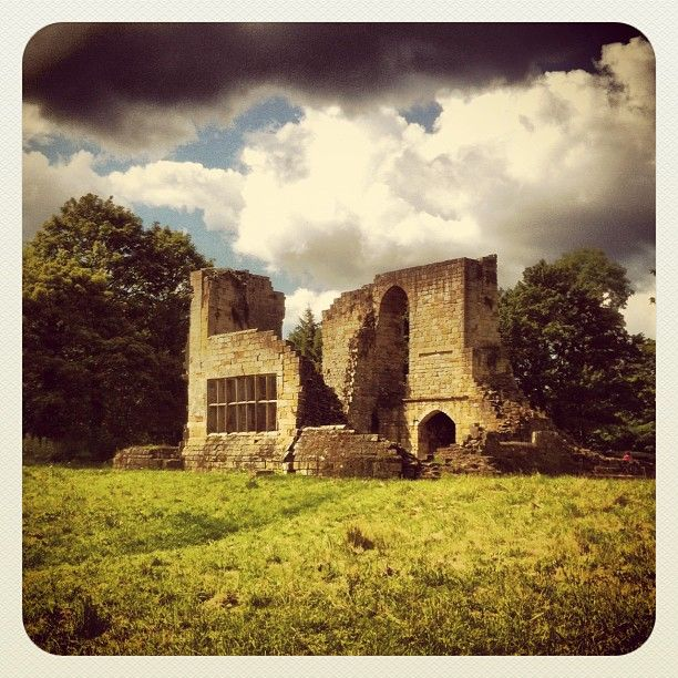 The ruins of Mulgrave castle near Sandsend, North Yorkshire.
