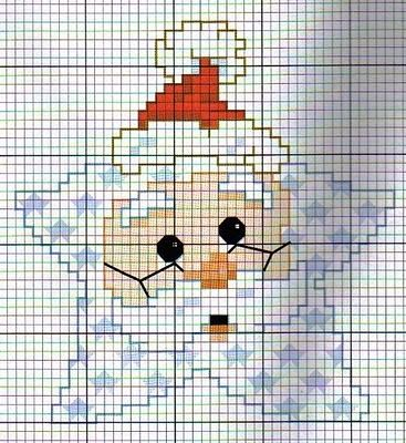 Cross stitch Santa star for Christmas