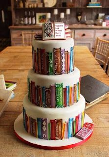 Have your cake and read it, too!!~ I would die if I was given this for my birthday <3