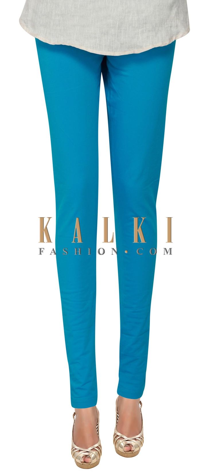 Buy Online from the link below. We ship worldwide (Free Shipping over US$100) Price- $9 Click Anywhere to Tag http://www.kalkifashion.com/sky-blue-cotton-hosiery-legging-only-on-kalki-21405.html