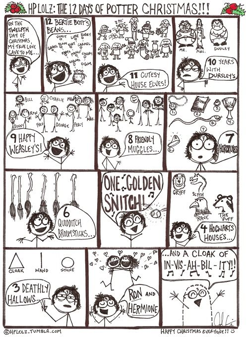 Twelve days of Harry Potter Christmas! so cute! Click on this and sing it out!