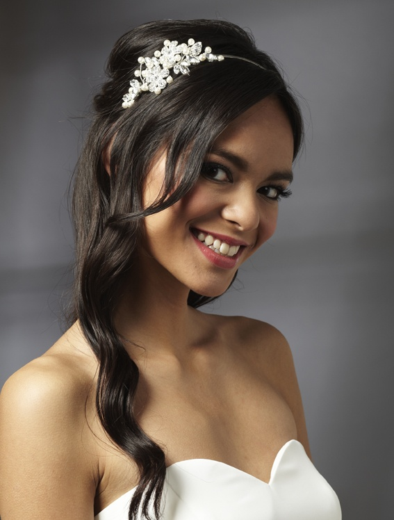 Ar403 Arianna Bridal Side Tiara Comb Handmade In The Uk