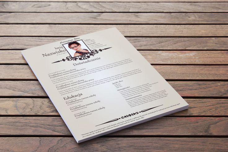 Szablon CV, Infografika CV – Arystokratyczny ton to świetna połączenie stylu i funkcjonalności nowoczesnego CV -> http://cv-szablony.pl/wzor-cv/szablon-cv-infografika-cv-arystokratyczny-ton/