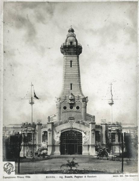 Il faro della Marina all'esposizione di Milano del 1906.