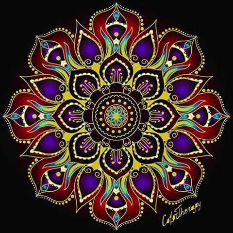 Jaynedeaux S Masterpiece Sponsored By Colortherapyapp For IPhone Follow Mandala DrawingAdult ColoringColouringArt