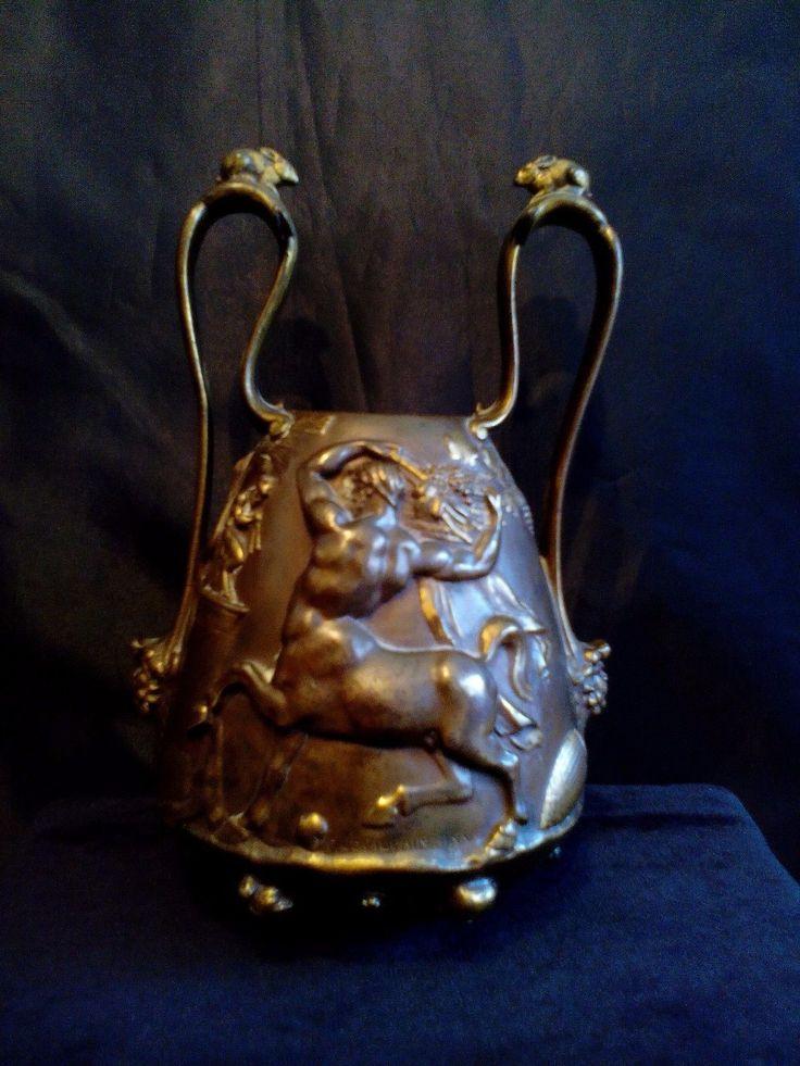 Bronze Pokal, F. Farbedienne, F. Levillain, Antiquariat Paris in Antiquitäten & Kunst, Metallobjekte, Bronze | eBay!
