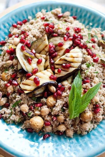 Scandi Home: Spelt Couscous Salad with Grilled Eggplant