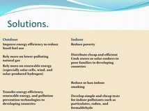 Essay Air Pollution Solutions - Experts' opinions