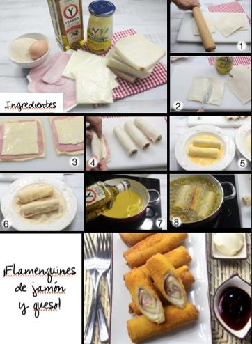 Para la cena de hoy, una receta española: flamenquines de queso y jamón.