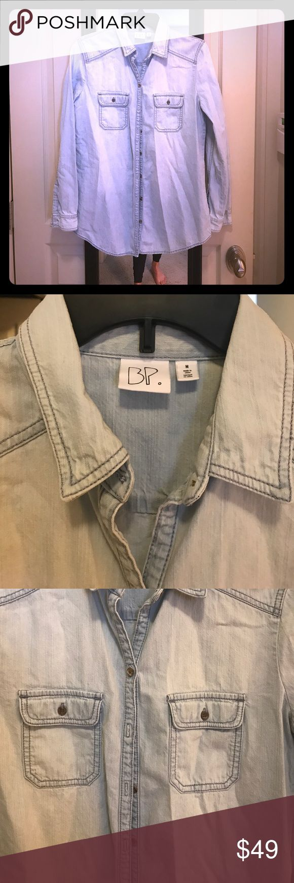 BP Light Denim Shirt Size Medium BP From Nordstrom... A Light Denim Classic Shirt.. Size Medium.. Only worn 1 Time... Perfect For Summer Spring and Fall... BP Nordstrom Tops Button Down Shirts