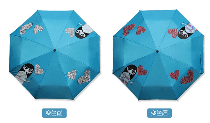Miss bikini ugly dolls in water discoloration umbrella