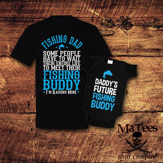 Father Son Daughter Matching Shirts Fish Theme Father/'s Day Gift for Dad First Father/'s Day Fishing 1st Father/'s Day Matching T-shirts