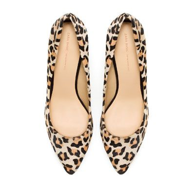 #Zara LEATHER COURT #SHOE - Natural #Leopard Ref. 2232/201  CAD$99.90