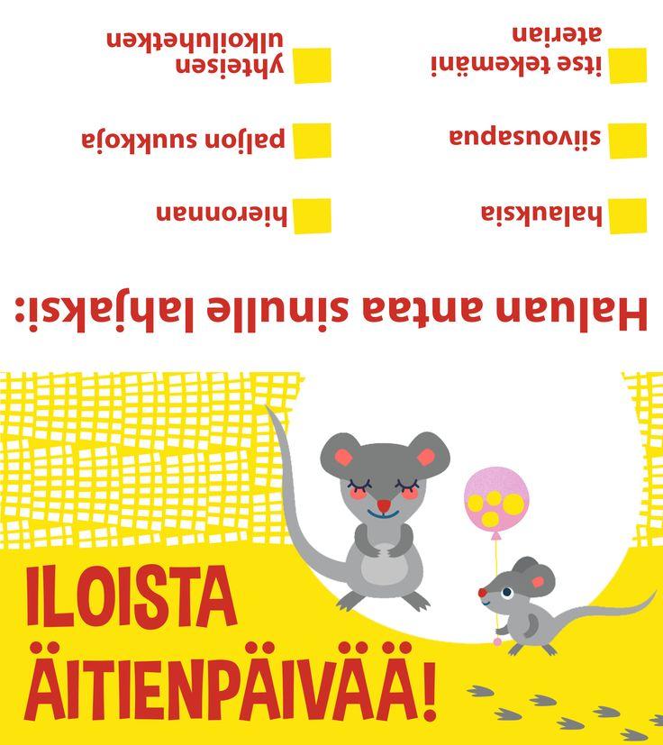 Free printable pattern   lasten   lapset   askartelu   juhlat   äitienpäivä   tulostettava   paperi   koti    postikortti   kortti   card   postcard   DIY ideas   kids   children   crafts   party   Mother's Day   home   paper   Pikku Kakkonen