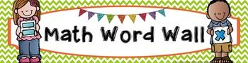 FREE Math Vocabulary Word Wall Banner - Chevron themed. Use this banner to turn your boring, old bulletin board into a fun, colorful academic vocabulary math word wall! Just download, print, (laminate if you wish), and adhere to your bulletin board for an eye-catching display that all your students will enjoy! Best of all, it's FREE!!! #wildaboutfifthgrade