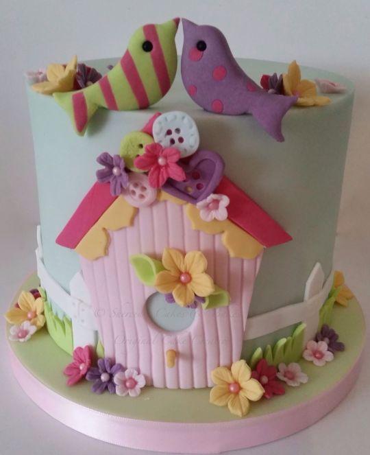 2 Little birds  Cake