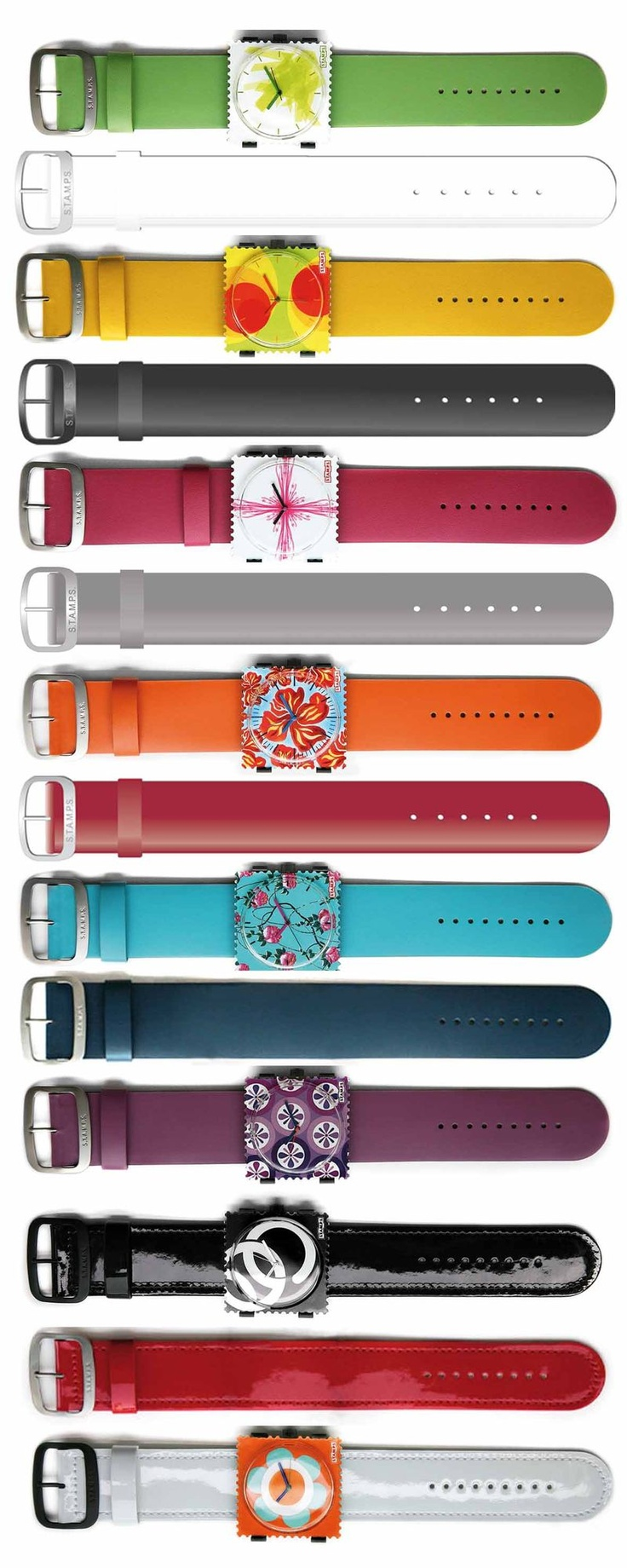 S.T.A.M.P.S. est une montre carrée en forme de timbre, avec au dos un adhésif repositionnable. Elle a l'avantage de s'adapter à tous types de surfaces (plastique, verre, bois, métal…) et d'être repositionnable à l'infini. Et comme toutes les montres, elle peut aussi se porter au poignet.    C'est vous qui choisissez le cadran et la couleur du bracelet.