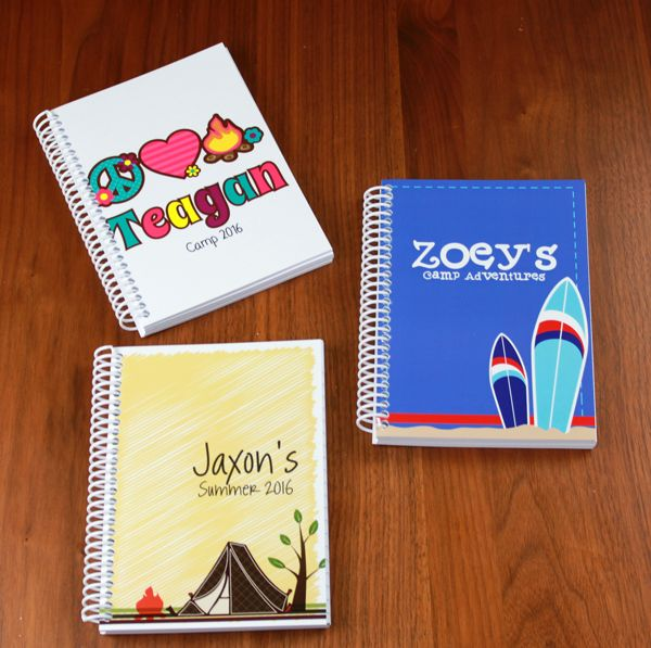 It's time for summer camp and family trips. Encourage the kids to write about their experiences in their own custom printed journal.