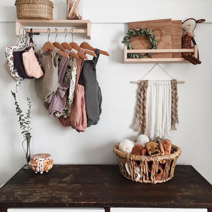 upsidedown ikea shelf as a clothing