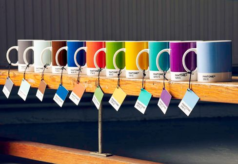 Pantone Mugs - I love the turquoise one; also the blue, green and purple ones ! I saw these at the UBC Bookstore today for $27 each. I'll wait for a sale !