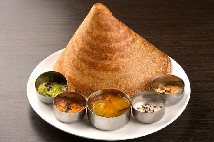 いろいろな味で楽しめるインドのクレープ『プレーン・ドーサ』